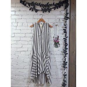 Maeve Striped Woven Striped Dress